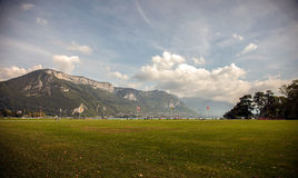 Lakefront park in Annecy, Haute-Savoie, France Stock Image