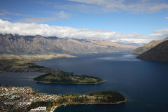 lakefront queenstown Royaltyfri Bild