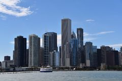 Lakefront Skyline Royalty Free Stock Images