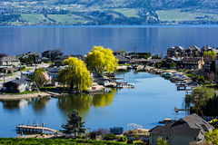 Lakefront Subdivision on Okanagan Lake West Kelowna British Columbia Canada. Green Bay Lakefront Subdivision on Okanagan Lake West Kelowna British Columbia Royalty Free Stock Image
