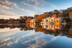 Lakefront Townhomes Reston Virginia Lake Anne Royalty Free Stock Images