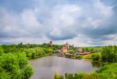 Lakefrontbezit Stock Foto's