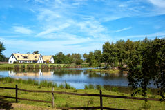 Lakehouse. A view of a countryside lakehouse near the swedish town of Torekov in the skane region of the country Royalty Free Stock Image