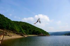 Lakejump. Nice day at our lake Royalty Free Stock Photo