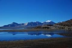 Lakekust och bergkant royaltyfri foto
