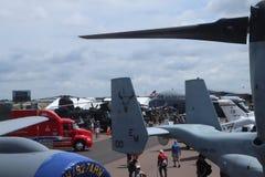 Lakeland, Florida - APRIL 5, 2019: Sun n Fun Airshow. Aviation training institute. Sun 'n fun expo campus. Visitors arriving at stock image