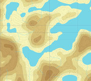 Lakeland map Stock Photos