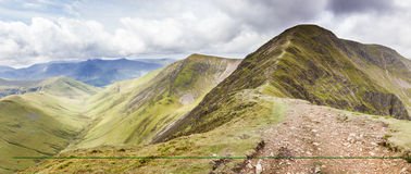 Lakeland Mountain range. Approach to Eel Crag in the Lake District stock photos
