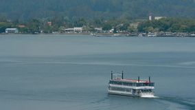 Lakeland Queen cruise -Rotorua New Zealand stock video