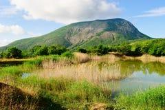 lakeliggandeberg Arkivfoto