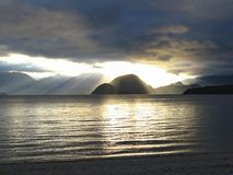 lakemanapouri New Zealand Royaltyfria Bilder