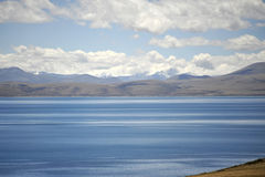 LakeManasarovar Mapam Yumco. LakeManasarovar (Mapam Yumco) is the world's highest average elevation freshwater lake (4,556 meters), in Tibet Royalty Free Stock Photography