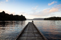 lakemapourika New Zealand royaltyfria bilder