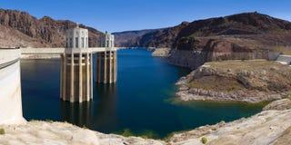 LakeMead på dammsugarefördämningpanoramat Royaltyfri Bild