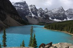 lakemoraine Royaltyfria Foton
