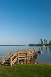 LakeMurray Dock på en klar dag Royaltyfri Foto