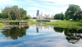 Laken i parken Arkivfoto