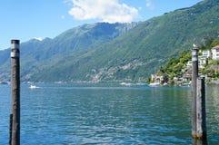 Laken Maggiore i Schweitz Arkivbild