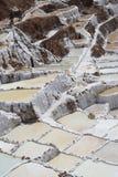 Laken med salt bevattnar Arkivbild