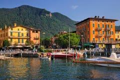 Town av Iseo, Italien Royaltyfri Fotografi