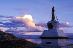 lakenamtso tibet Arkivfoto