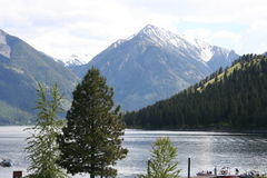 lakeoregon wallowa Royaltyfri Fotografi