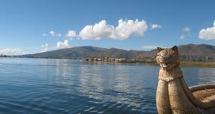lakeperu titicaca Royaltyfri Bild