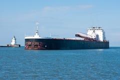 Laker che entra nel porto Fotografia Stock