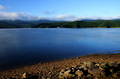Lakes. Blue lakes in the morning Stock Image