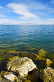 Lakes. This is the Qinghai Lake, one of the most famous Chinese lakes Royalty Free Stock Images
