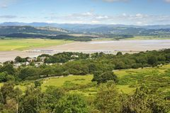 The Lakes from Arnside stock photos