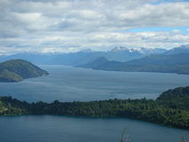 Lakes. One of the seven lakes on the road to San Martin de los Andes from Bariloche, Patagonian Argentiean Royalty Free Stock Images