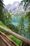 Lakes Braies Royalty Free Stock Image