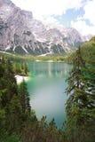 Lakes Braies Royalty Free Stock Photo