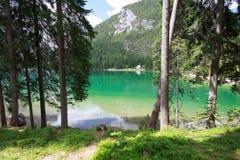 Lakes Braies Royalty Free Stock Photos