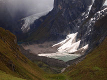 Lakes Carhuacocha in Cordillera Stock Photography