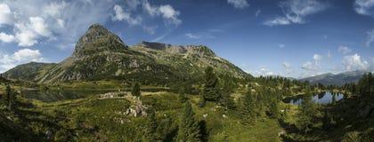 Lakes Colbricon, Dolomites - Italy Stock Photography