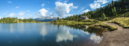 Lakes Colbricon, Dolomites - Italy Royalty Free Stock Photo