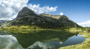Lakes Colbricon, Dolomites - Italy Stock Photography