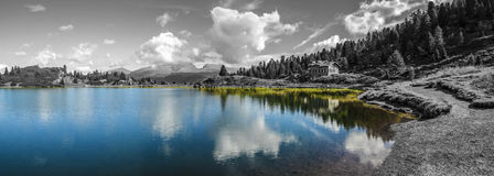 Lakes Colbricon, Dolomites - Italy Stock Images