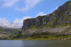Lakes of Covadonga in Asturias. Royalty Free Stock Images