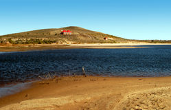 Lakes in the desert. In Inner Mongolia China royalty free stock images