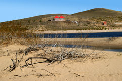 Lakes in the desert. In Inner Mongolia China royalty free stock photos