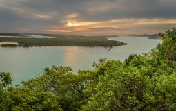 Lakes Entrance in Australia view from Jemmys point lookout Stock Photography