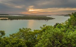 Lakes Entrance in Australia view from Jemmys point lookout royalty free stock photos