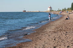 Lakes Erie Cleveland Coast arkivfoton
