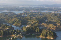 Lakes and islands at Guatape in Antioquia, Colombia Stock Image
