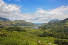 The Lakes of Killarney. As seen from Ladies View. Ring of Kerry royalty free stock images