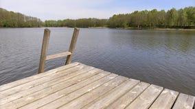 Lakes of Lithuania. Druskininkai. Vilkanastru. stock video