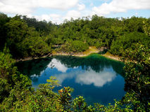 The lakes of Montebello. Tje incredible lake in Montebello (Chiapas, Mexico Stock Photos
